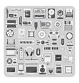 flat icons computer set vector image