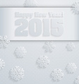 2015 Happy New Year background in Typography style vector image vector image