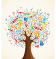 Abstract musical tree made with instruments vector image vector image