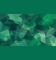abstract polygonal background plant green vector image vector image