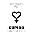 astrology asteroid cupido vector image vector image