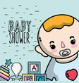 baby shower invitation to birth of a boy vector image