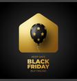 black friday gold sale banner for online shop
