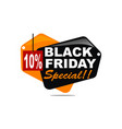 black friday special discount 10 percent vector image vector image