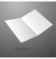 Blank empty magazine template vector image vector image