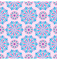bright mandala pattern in pink-white and blue vector image vector image