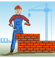 builder working vector image vector image