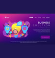 business solution concept landing page vector image vector image