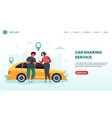 car sharing service rent automobile landing page vector image