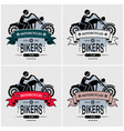 chopper biker club logo design artwork for big vector image vector image