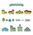 City constructor 3d icons set vector image