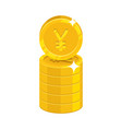 column gold chinese yuan or japanese yen isolated vector image vector image