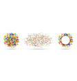 confetti circles set confetti frame birthday vector image