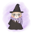 cute babear in wizard costume vector image vector image