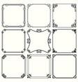 decorative frames set 46 vector image vector image