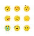 emoji flat icon face emoticon vector image