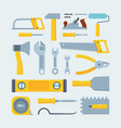 engineer construction tools and instruments flat vector image