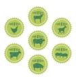 farm animals labels templates butchery shop vector image vector image