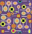 halloween lollypops purple pattern vector image