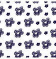 hand drawn flower pattern vector image vector image