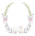 Hand drawn watercolor wreath vector image vector image
