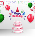 happy birthday poster banner cover template design vector image