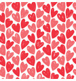 hearts seamless background hand drawn vector image vector image