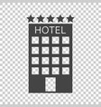 hotel icon on isolated background simple flat vector image vector image