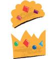 king and queen crowns children vector image vector image