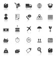 Logistics icons with reflect on white background vector image vector image