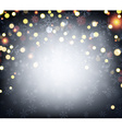 Luminous background with confetti vector image