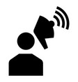 man megaphone icon simple style vector image