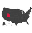 map of usa - utah vector image