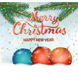 merry christmas and happy new year party vector image