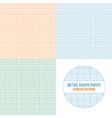 metric graph paper seamless patterns set vector image vector image