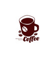 mug of coffee flat icon isolated vector image vector image