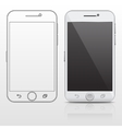 Outline and realistic smartphone cell phone vector image