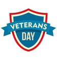 parade veterans day logo flat style vector image