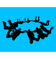 paratroopers vector image