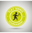 play tennis design vector image