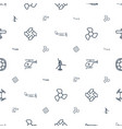 propeller icons pattern seamless white background vector image vector image