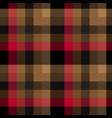 red brown tartan plaid pattern vector image vector image