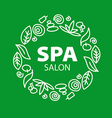 Round logo for Spa salon vector image