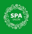 Round logo for Spa salon vector image vector image