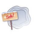 sale wooden signboard vector image vector image