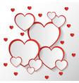 san valentine invitation card or background with vector image vector image