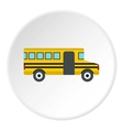 School bus icon flat style vector image