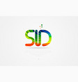 sd s d rainbow colored alphabet letter logo vector image vector image