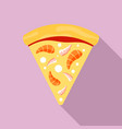 sea food pizza icon flat style vector image