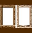 set decorative frames in traditional celtic vector image